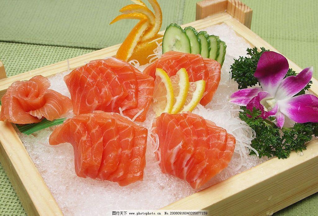 三文鱼 刺身 海鲜 餐饮美食 传统美食 摄影图库 72dpi jpg