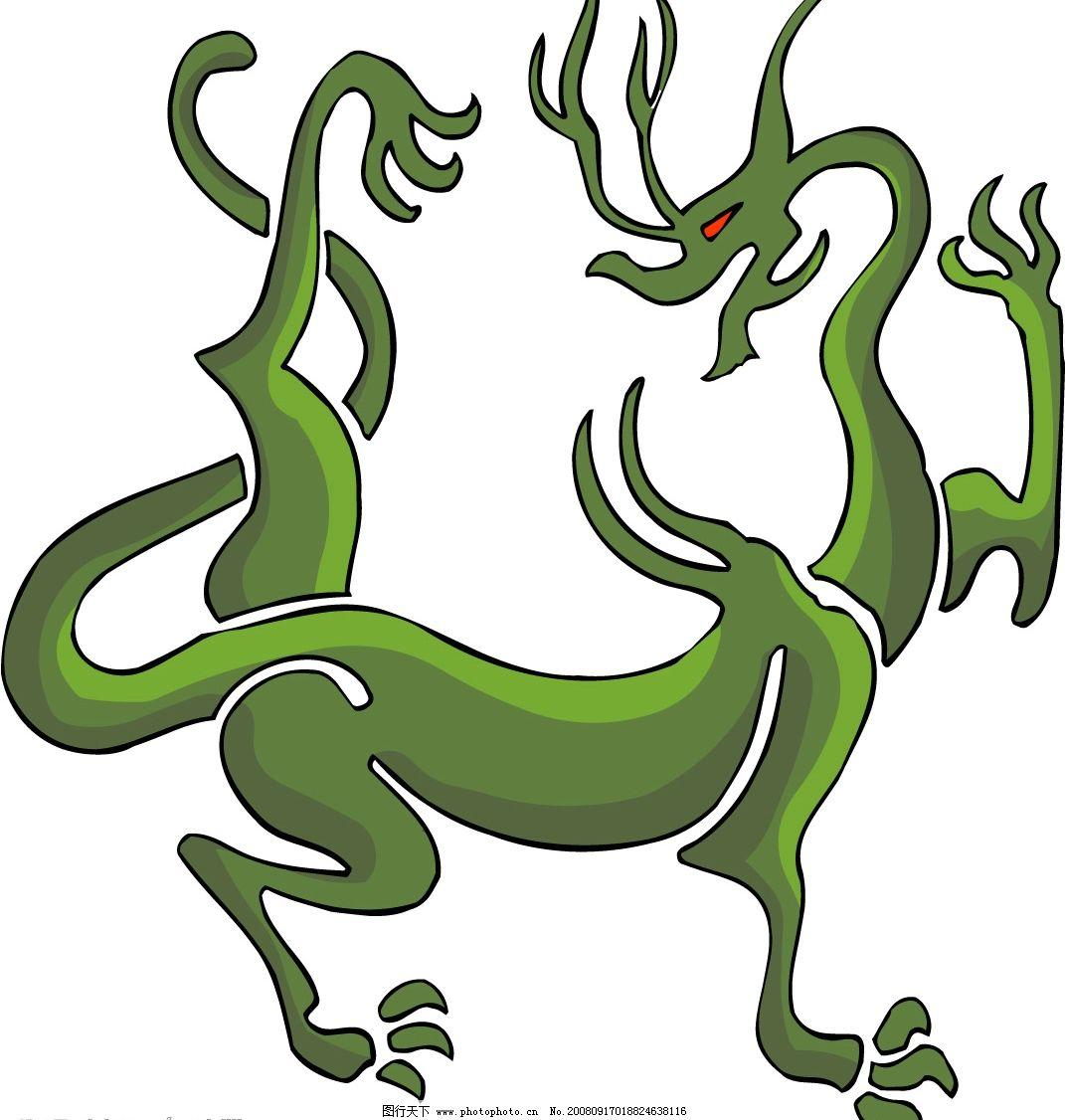 古代图腾图片3 图腾 动物 龙 文化艺术 传统文化 矢量图库 ai