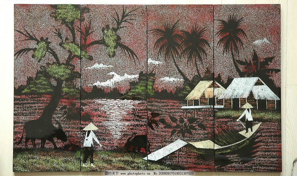 越南名画 越南文化图片 文化艺术 绘画书法 设计图库 300dpi jpg