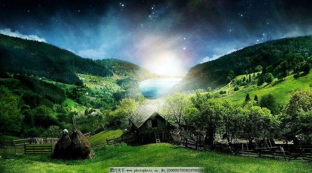 山中小屋图片