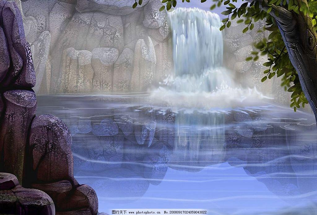 壁纸 风景 旅游 瀑布 山水 桌面 1024_696