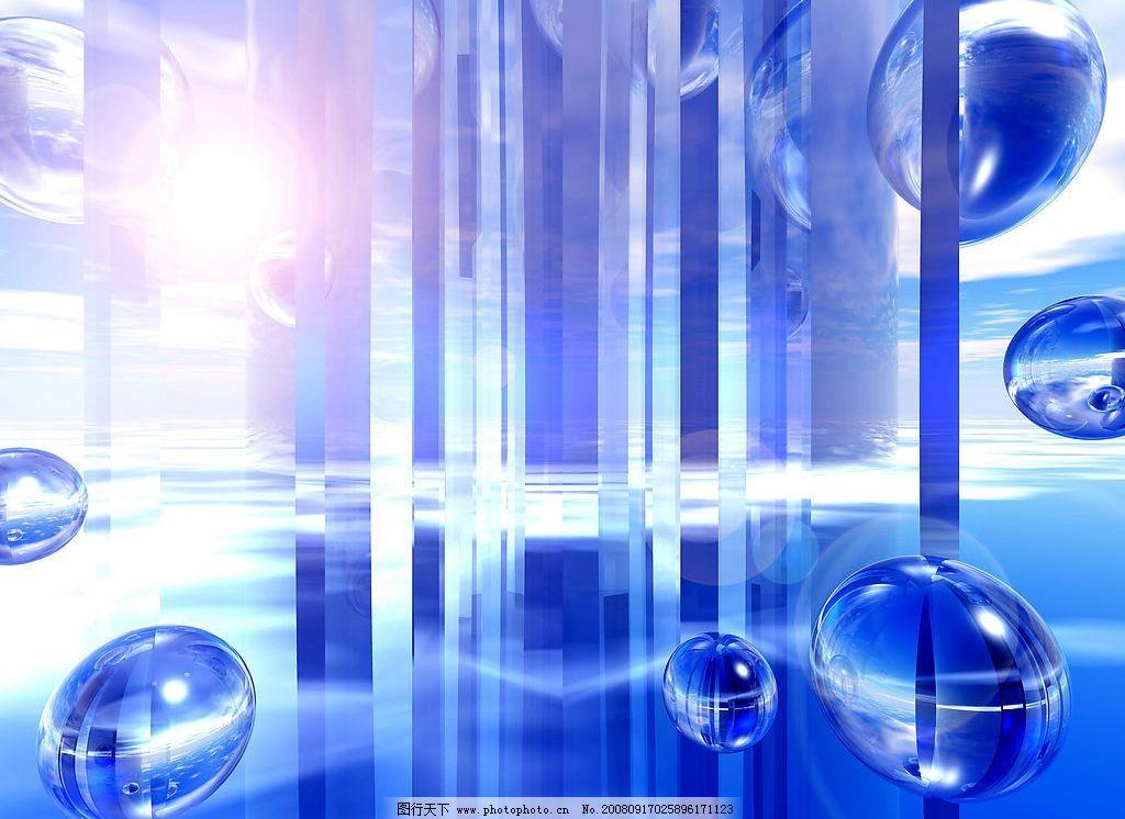 数字空间 梦幻背景 效果 光 水珠 数字科技 背景 素材 模块 生活百科