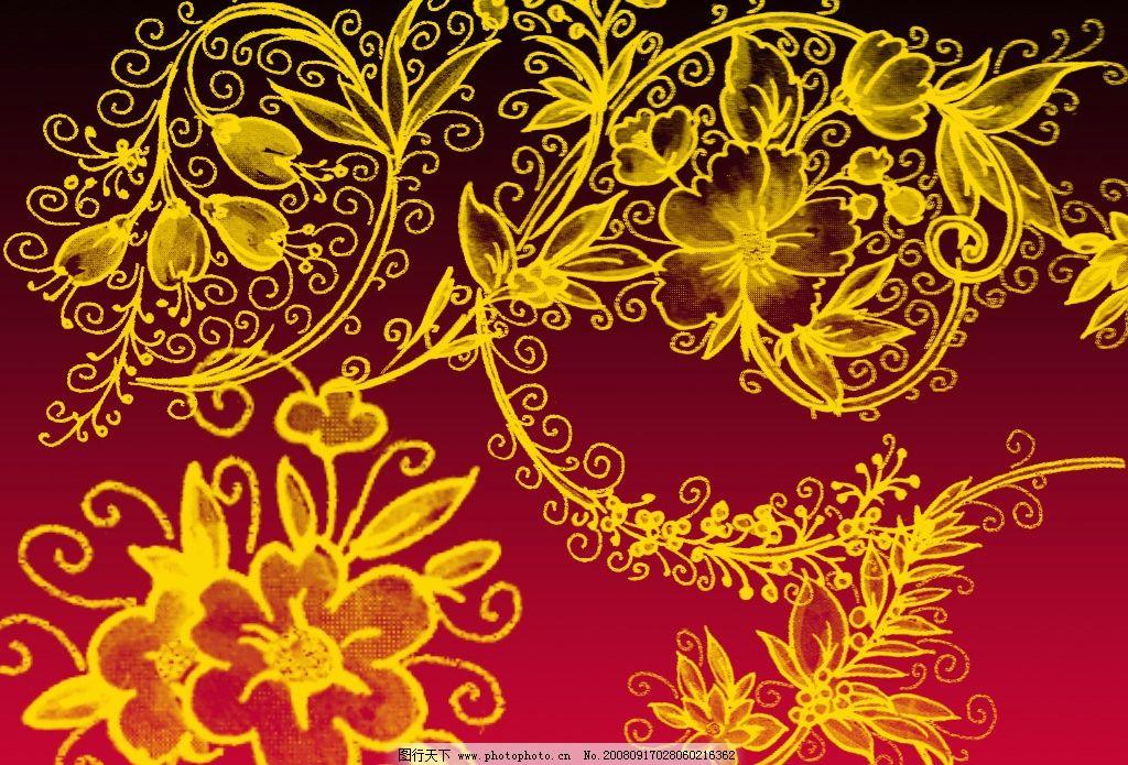 漂亮手绘花纹笔刷 背景素材 树枝 几种鸟 花朵 psd源文件 闲适 ps笔刷
