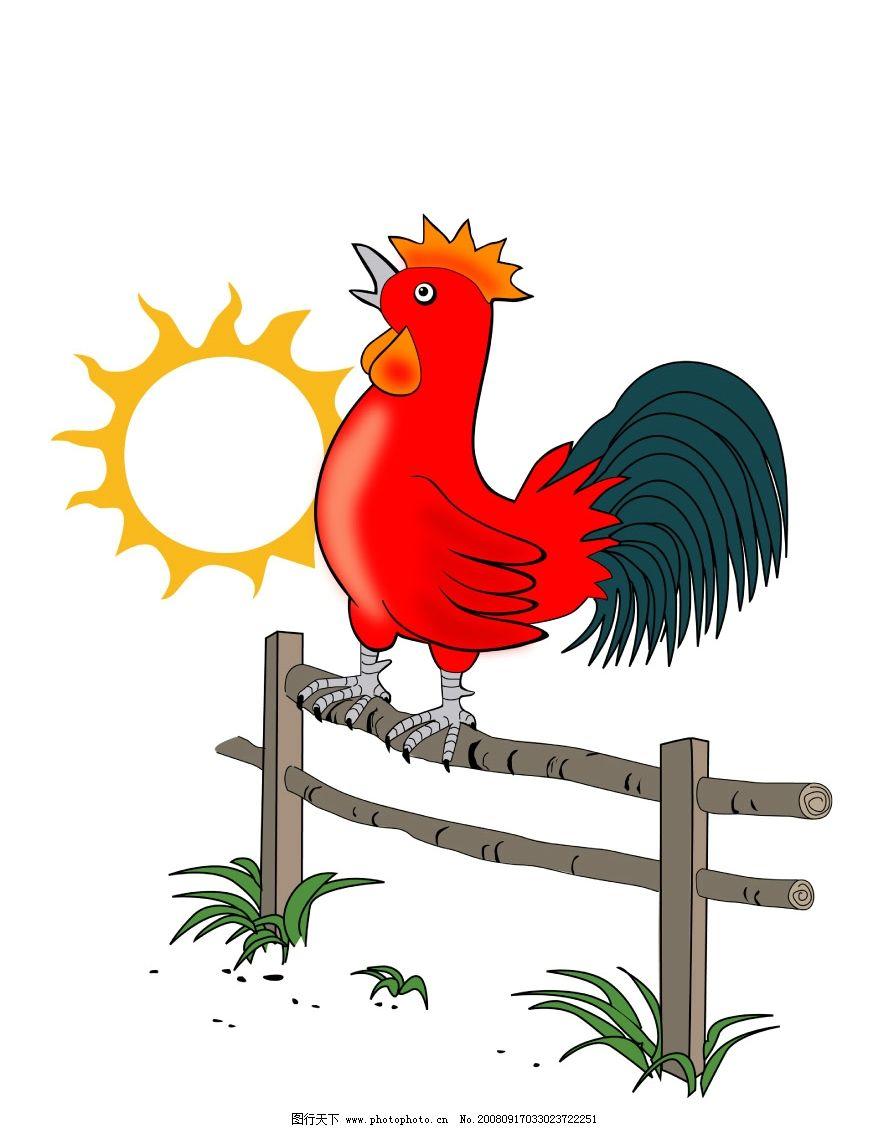 圆珠笔手绘公鸡