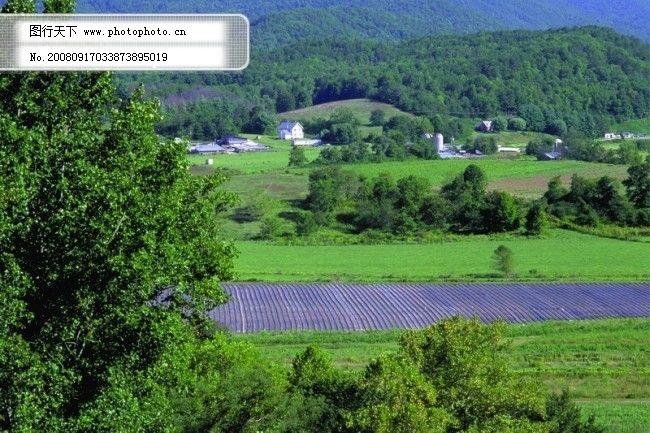 农场 牧场 房屋 草地 大自然 环境 风光 风景 家畜 广告素材大辞典