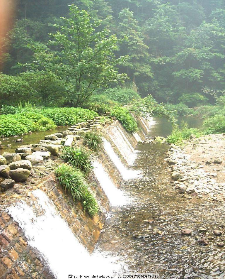 小瀑布 湖南 张家界 山谷 清泉 小溪 自然景观 山水风景 摄影图库 72d