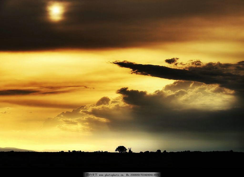 夕阳西下 夕阳 日出 素材 背景 云 天空 太阳 大地 自然景观 自然风景