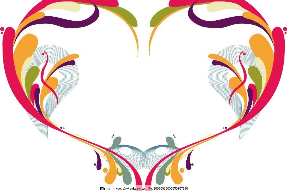 心型 矢量 色彩缤纷 抽象 其他矢量 矢量素材 矢量图库 ai
