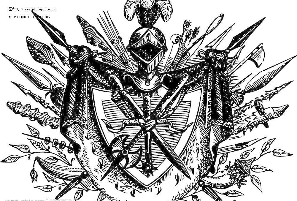 欧式盾牌图形矢量素材 eps格式 矢量盾牌 古典 欧式 武士 皇室 狮子