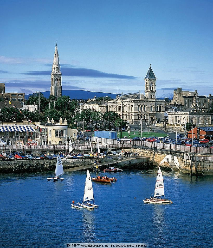 欧洲风景 风景 欧洲 帆船 港口 欧洲建筑 旅游摄影 国外旅游 摄影图库