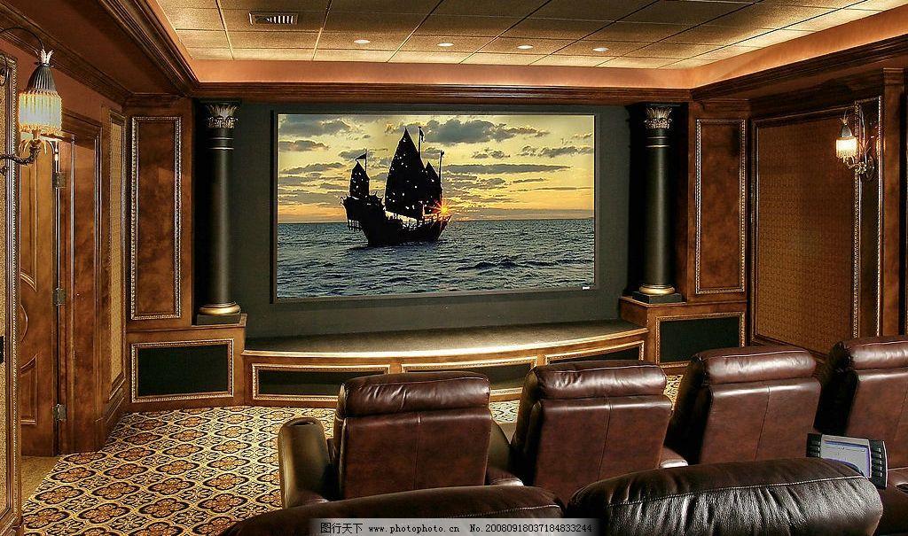 家庭影院 豪华影院 欧式风格 奢华装饰 真皮沙发 生活百科 娱乐休闲