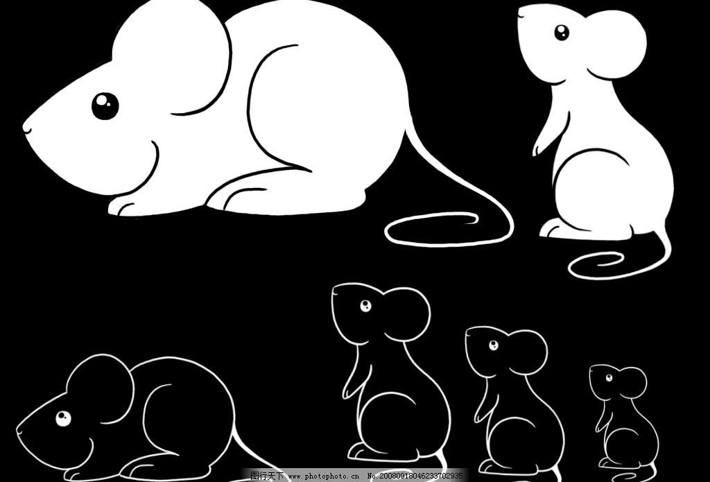 可爱小白鼠ps笔刷