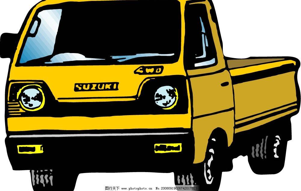 卡车 车辆 现代科技 交通工具 矢量图库 ai 矢量