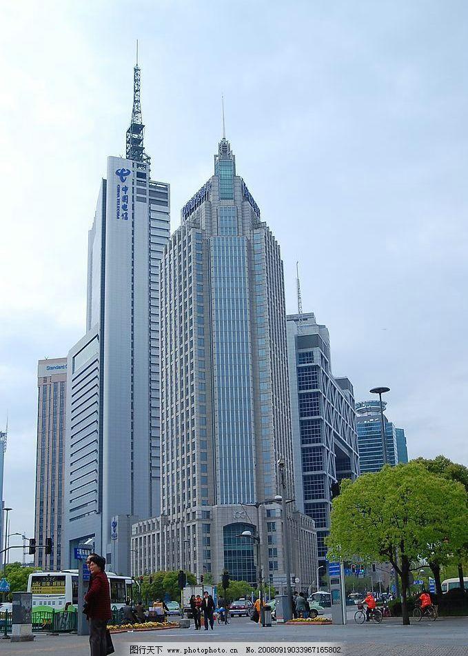 高楼大厦 中国电信 上海大厦 旅游摄影 国内旅游 摄影图库 300dpi jpg