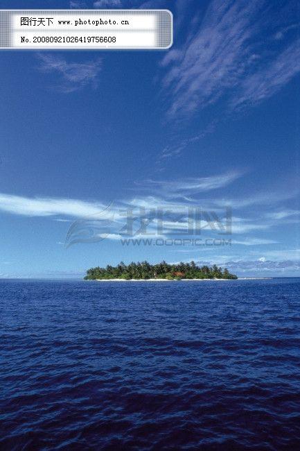 旅游 风光 风景 海边 大自然 海滩 天空 海域 海岛 广告素材大辞典