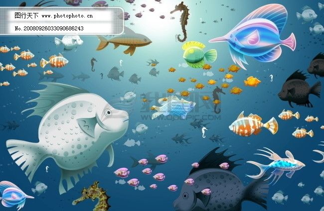 树叶 树枝 叶片 树苗 白鸽 小鸟 鸽子 鱼 海底世界 动物 psd分层素材